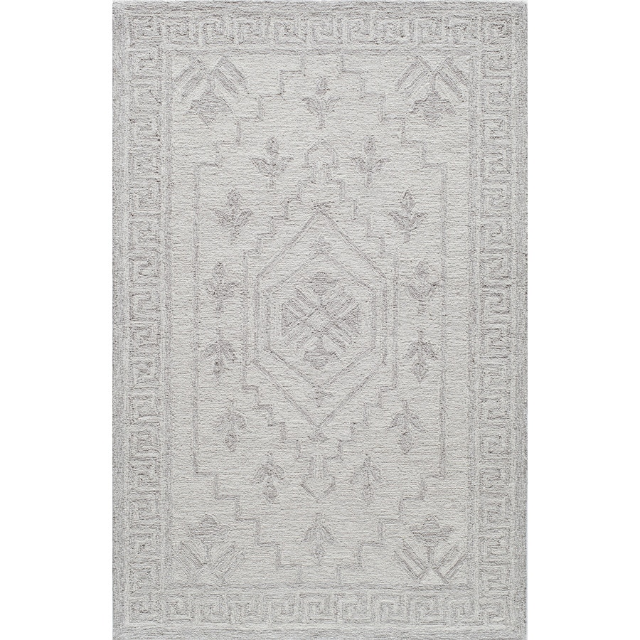 Rugs America Cortland Ivory Fog Rectangular Indoor Tufted Area Rug (Common: 8 x 10; Actual: 96-in W x 120-in L)