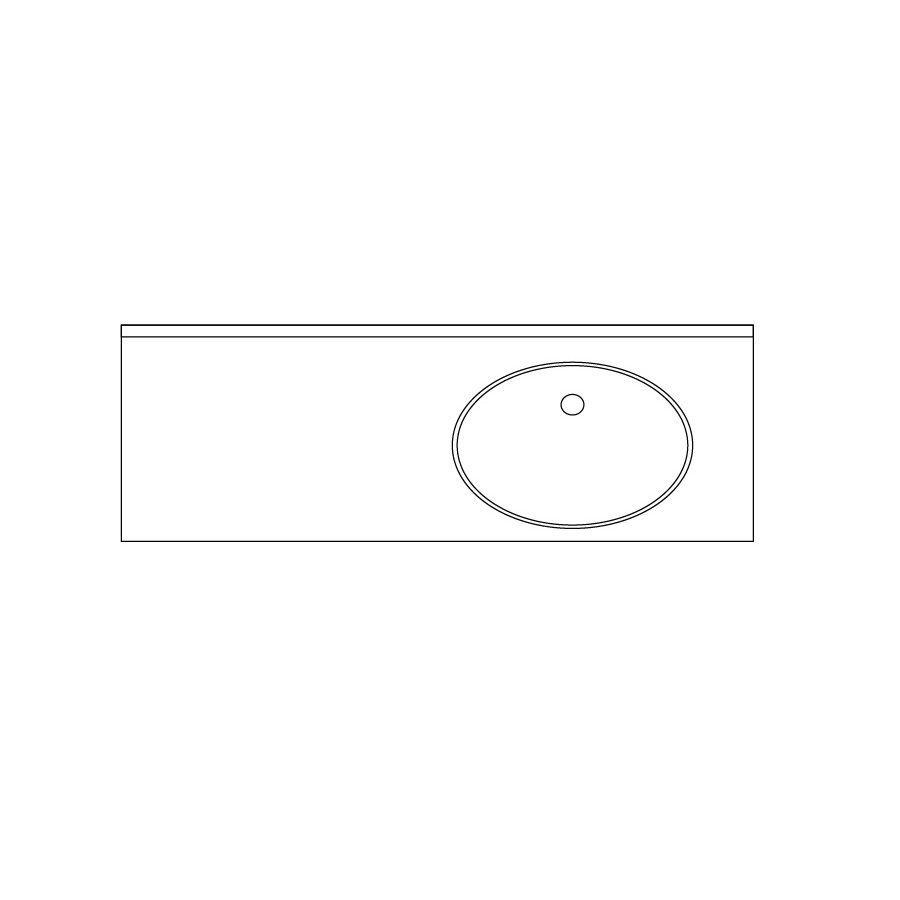 US Marble Baroque Aspen Solid Surface Undermount Bathroom Vanity Top (Common: 49-in x 22-in; Actual: 48.5-in x 22-in)