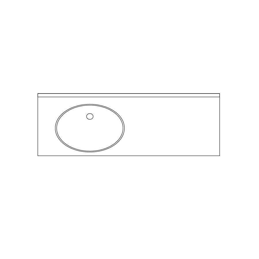 US Marble Cultured Granite Pebble Cultured Marble Undermount Bathroom Vanity Top (Common: 49-in x 22-in; Actual: 48.5-in x 22-in)