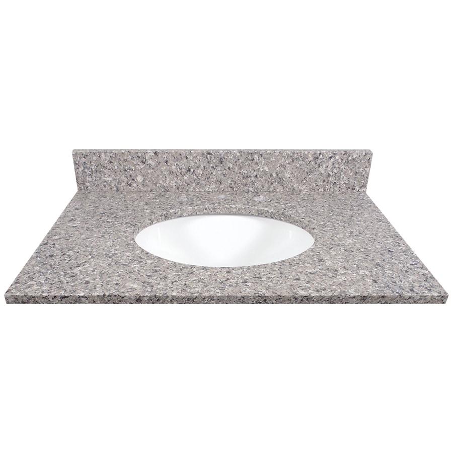 US Marble Copenhagen Quartz Undermount Single Sink Bathroom Vanity Top (Common: 31-in x 22-in; Actual: 31-in x 22.25-in)