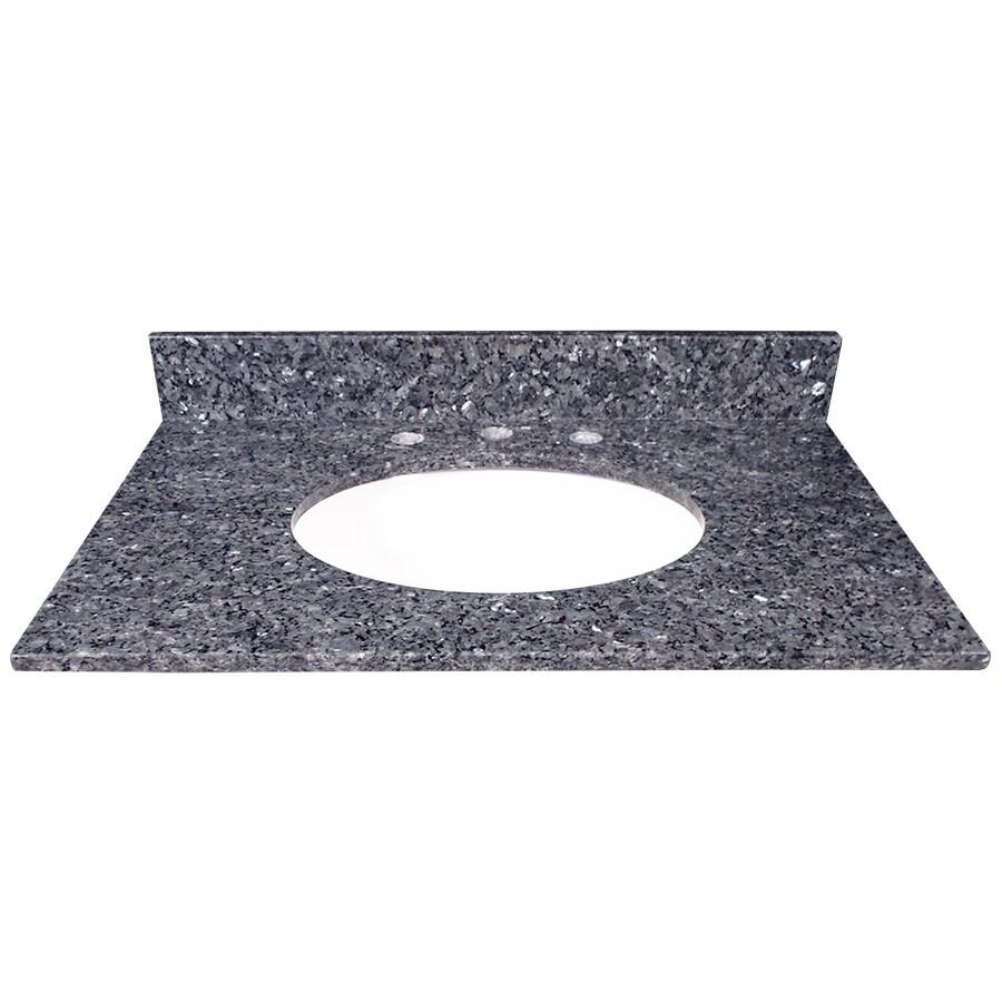 US Marble Blue Pearl Granite Undermount Single Sink Bathroom Vanity Top (Common: 31-in x 22-in; Actual: 31-in x 22.25-in)