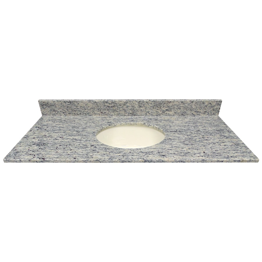 US Marble Santa Cecilia Light Granite Undermount Single Sink Bathroom Vanity Top (Common: 49-in x 22-in; Actual: 49-in x 22.25-in)