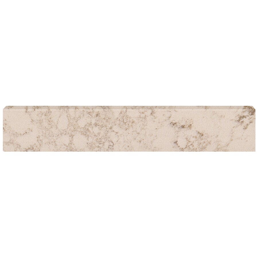US Marble 4-in H x 20.75-in L Giallo Beige Bathroom Side Splash