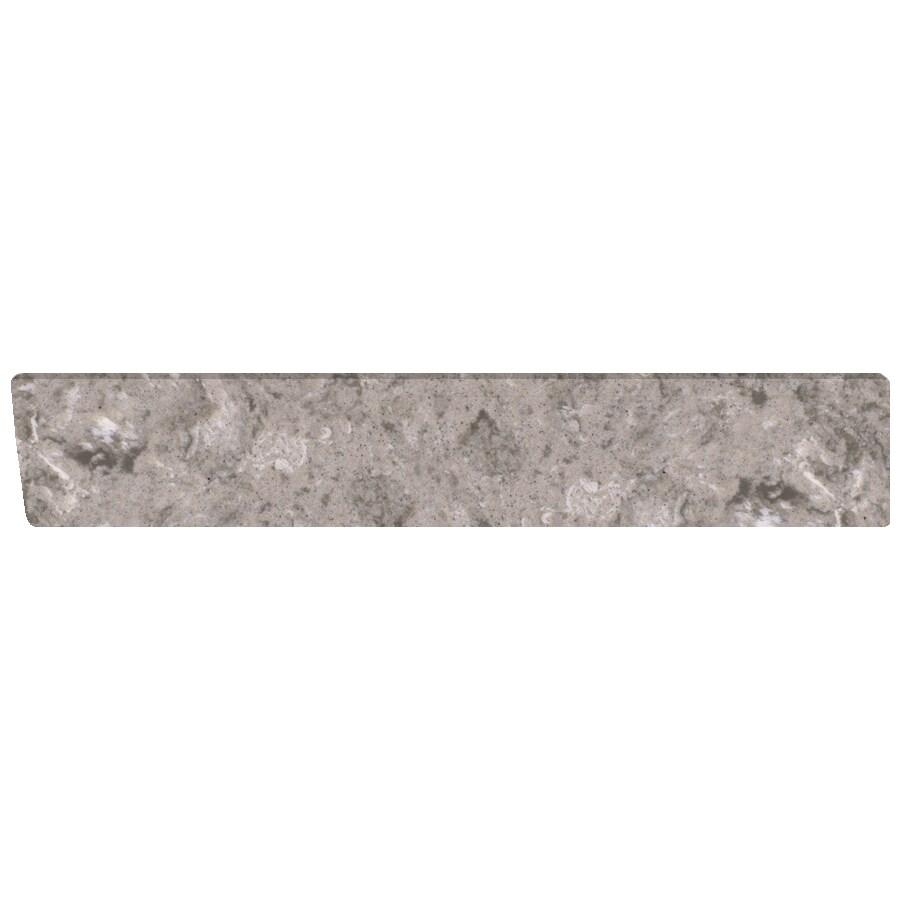 US Marble 4-in H x 21.25-in L River Bottom Bathroom Side Splash