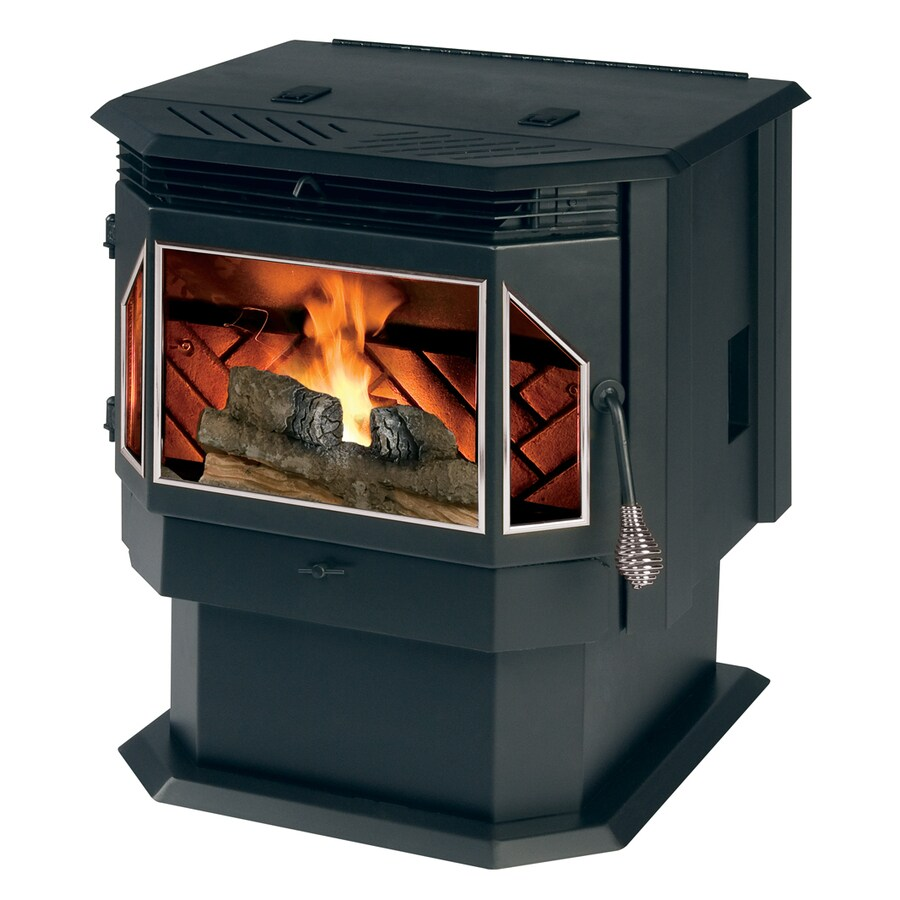 Shop summers heat 2 000 sq ft pellet stove at for Hardwood floors 2000 sq ft