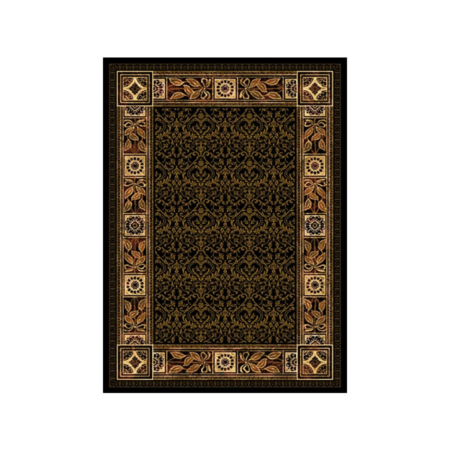 United Weavers Of America China Garden Brown Rectangular Indoor Woven Moroccan Area Rug (Common: 5 x 7; Actual: 63-in W x 86-in L)