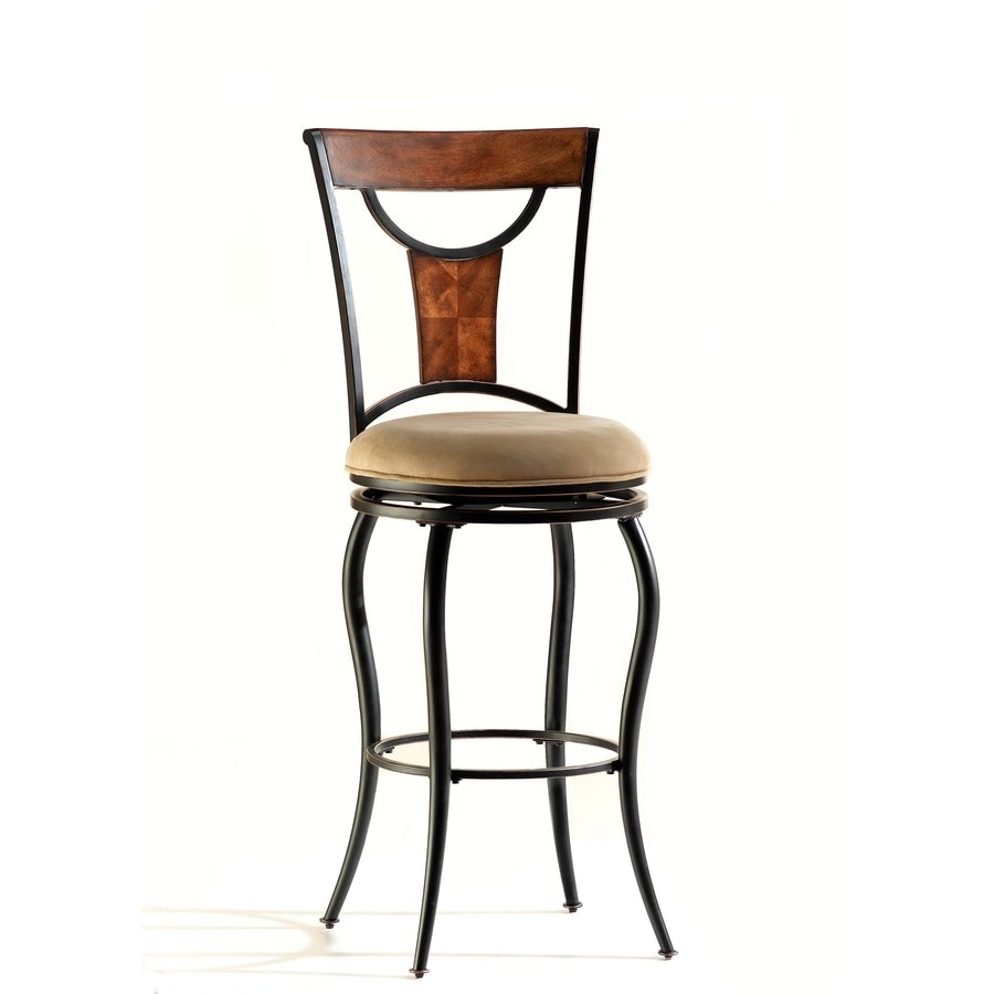 Hillsdale Furniture Pacifico Black with Copper Highlights, Honey Maple 30-in Bar Stool