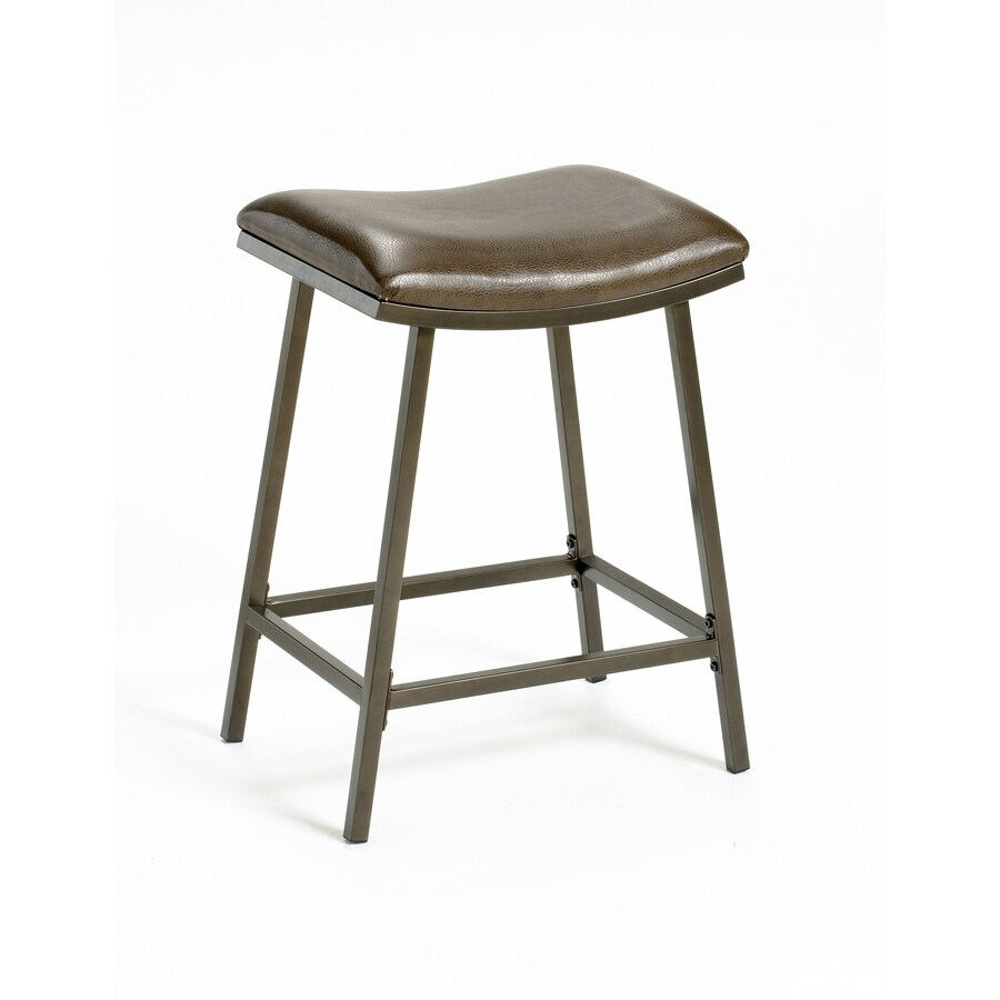 Hillsdale Furniture Saddle Brown Copper 30-in Adjustable Stool