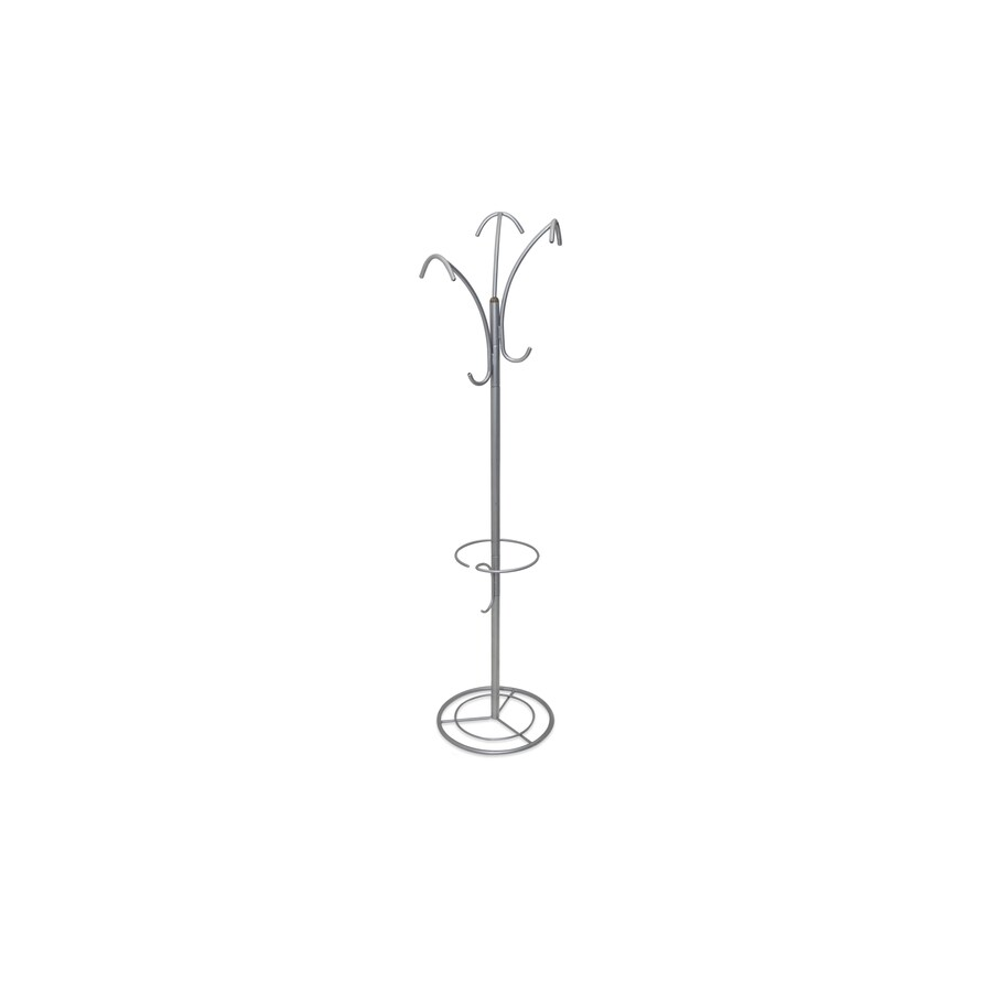 The Art of Storage Silver Powder Coated 6-Hook Coat Stand