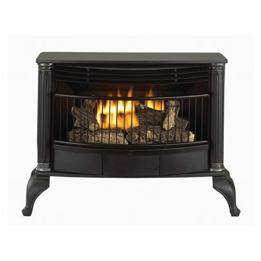 Shop Style Selections 25000 Btu Black Vent Free Gas Stove At