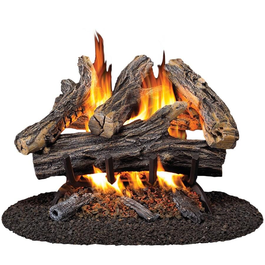 ProCom 19.8-in W/16-in W 45,000-BTU Dual Vented Gas Fireplace Logs