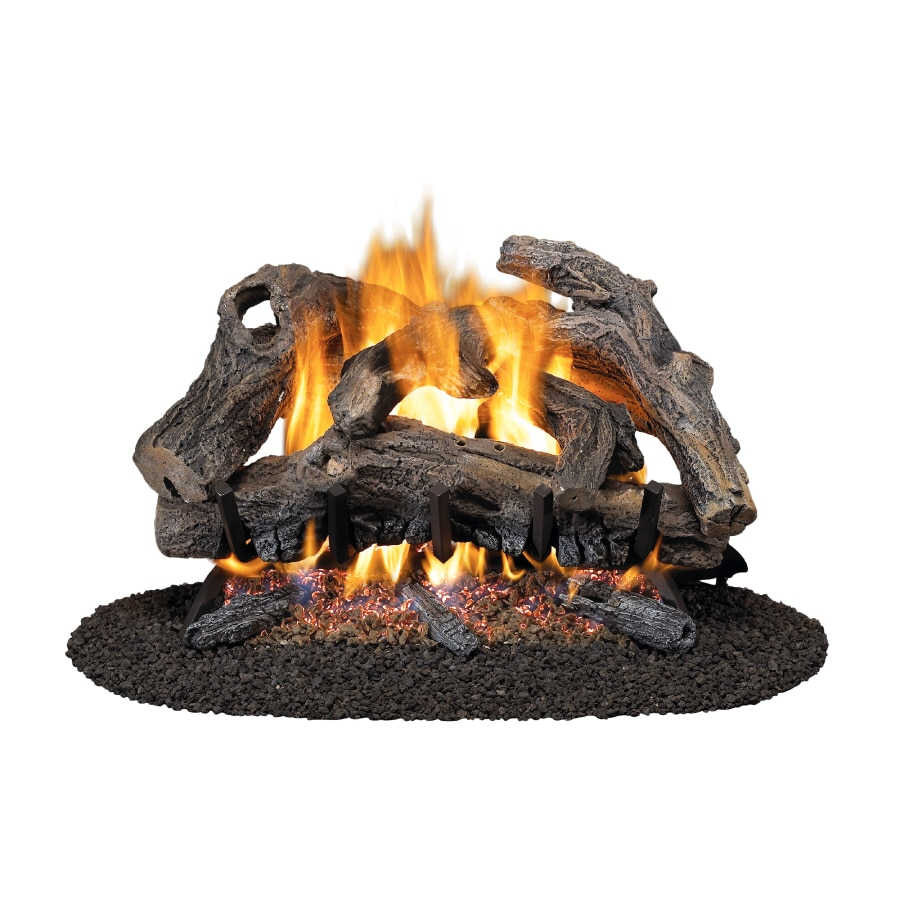 Shop Style Selections 18 Vented Gas Logs With Dual Burner At