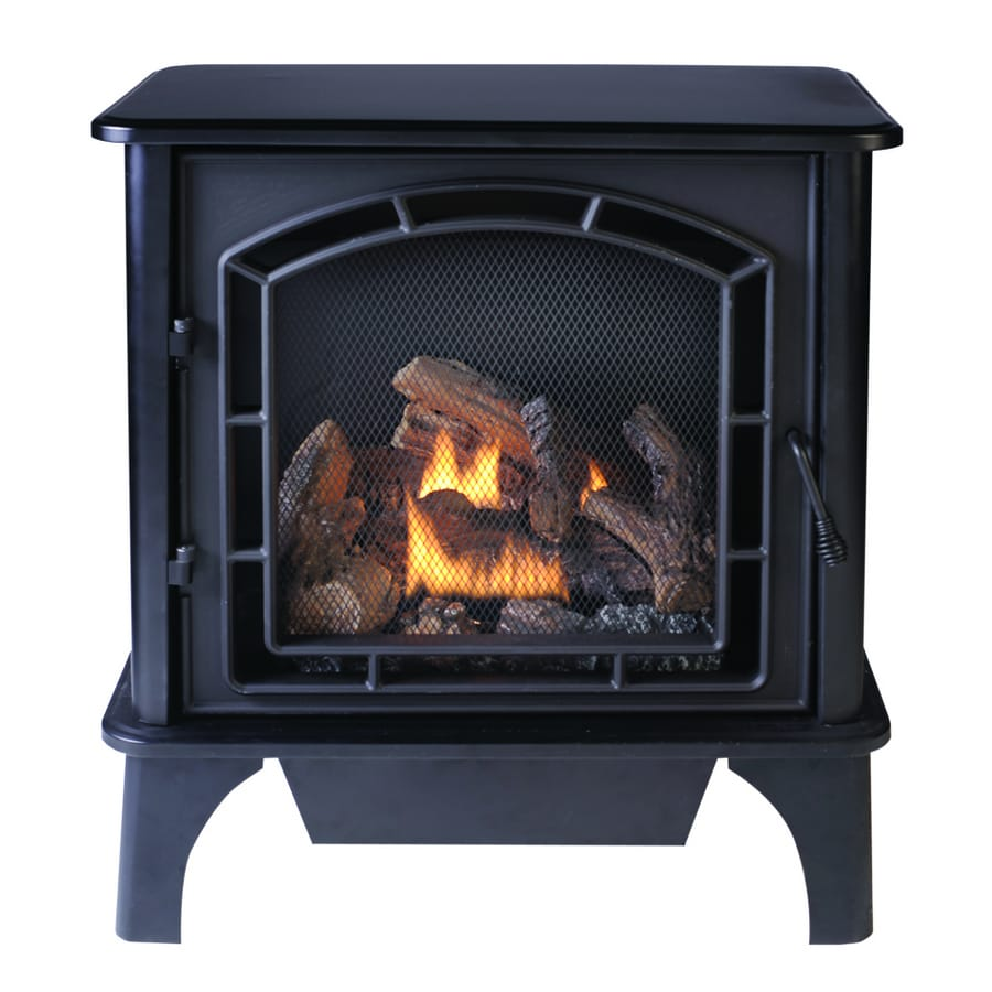 allen + roth 23000 BTU 3-Sided Contemporary Vent-Free Gas Stove