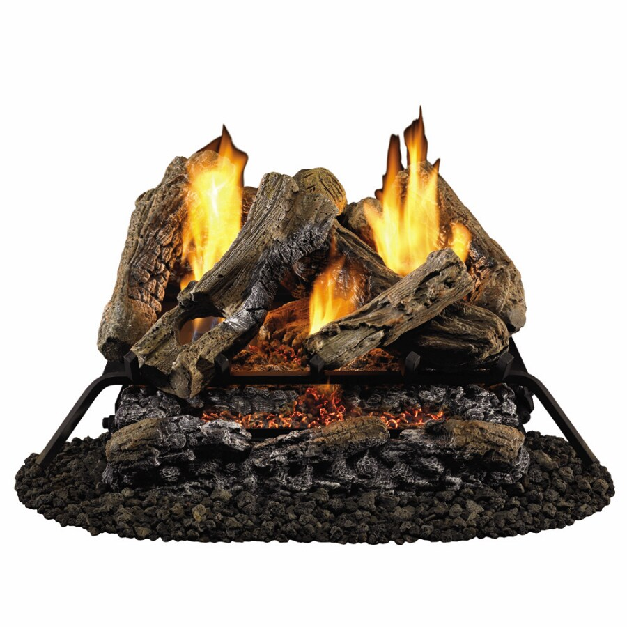 """Style Selections 30"""" Vent-Free Gas Logs with Glowing Ember Bed"""