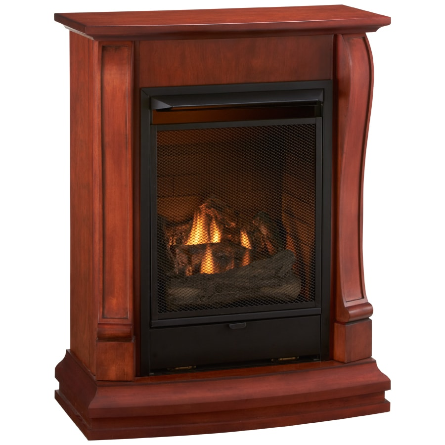 Cedar Ridge Hearth 29.13-in Dual-Burner Vent-Free Sienna Corner or Wall-Mount Electric and Liquid Propane or Natural Gas Fireplace with Blower