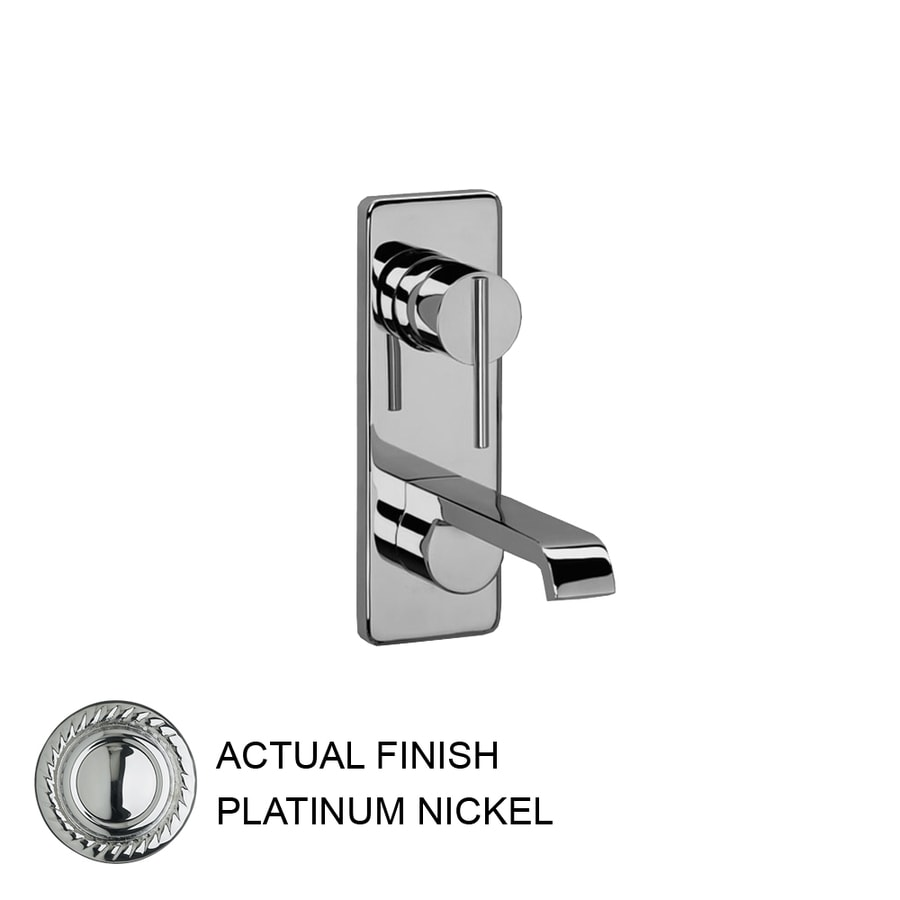 JADO Glance Platinum Nickel 1-Handle Single Hole WaterSense Labeled Bathroom Sink Faucet (Drain Included)
