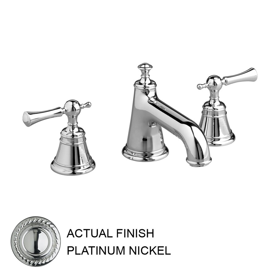 JADO Hatteras Platinum Nickel 2-Handle Widespread WaterSense Labeled Bathroom Sink Faucet (Drain Included)