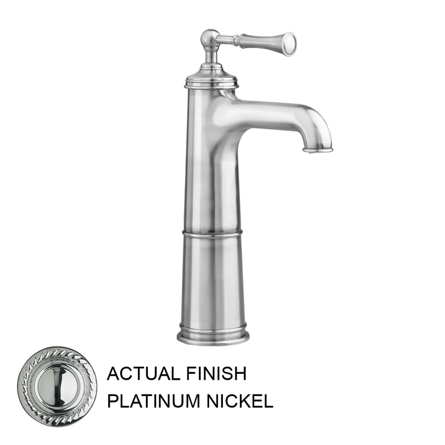 JADO Hatteras Platinum Nickel 1-Handle Single Hole WaterSense Labeled Bathroom Sink Faucet