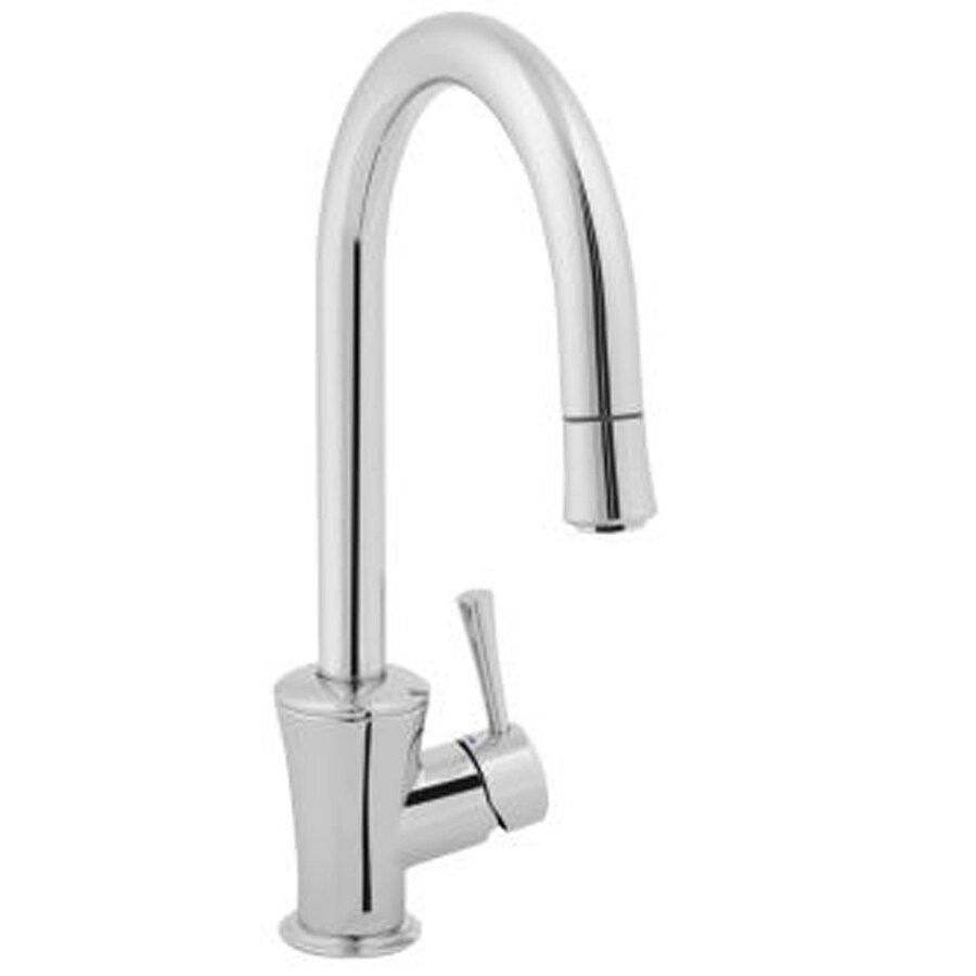 Shop Jado Basil Polished Chrome Pull Down Kitchen Faucet At