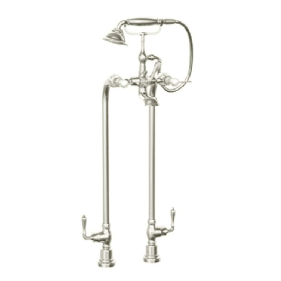 JADO Savina Platinum Nickel 3-Handle Fixed Clawfoot Tub Faucet
