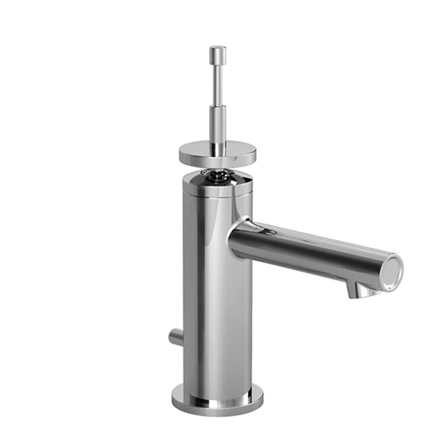 JADO Stoic Platinum Nickel 1-Handle Single Hole WaterSense Labeled Bathroom Sink Faucet (Drain Included)