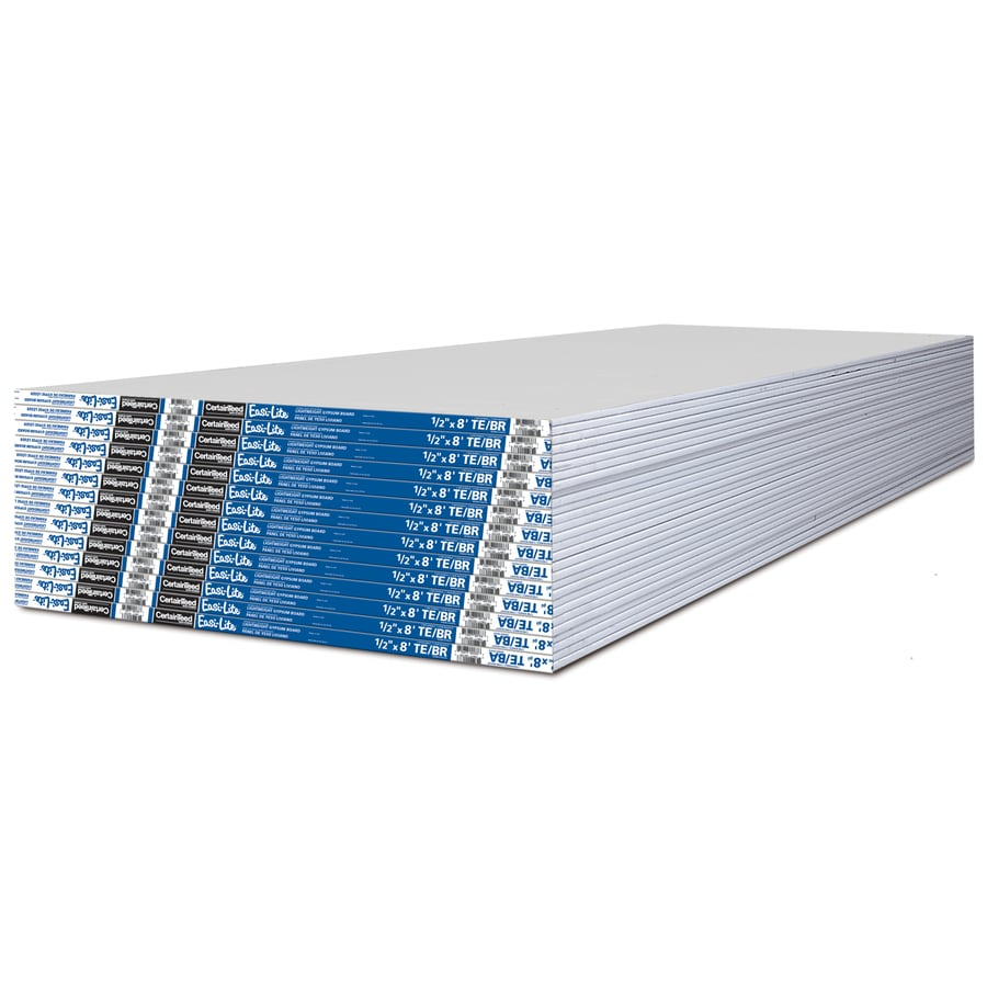CertainTeed Easi-Lite Drywall Panel (Common: 1/2-in x 4-ft x 8-ft; Actual: 0.5-in x 4-ft x 8-ft)