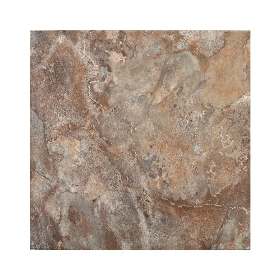 FLOORS 2000 6-Pack Golfo Brown Glazed Porcelain Indoor/Outdoor Floor Tile (Common: 20-in x 20-in; Actual: 19.68-in x 19.68-in)