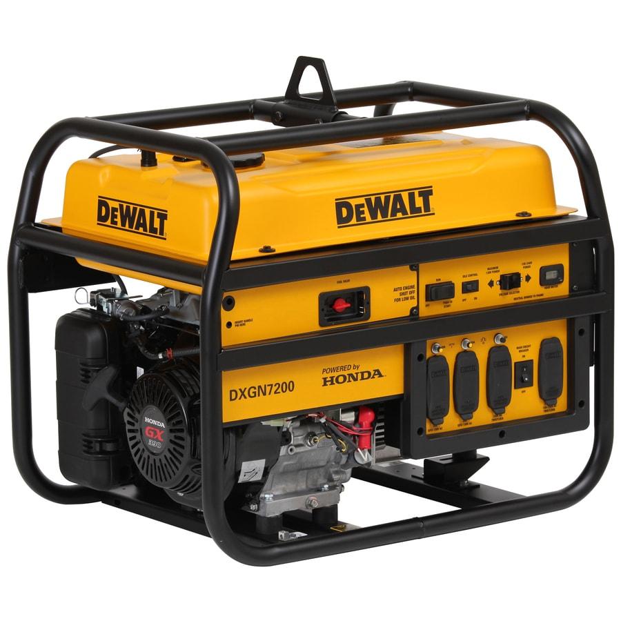DEWALT 6,100-Running Watt Portable Generator with Honda Engine