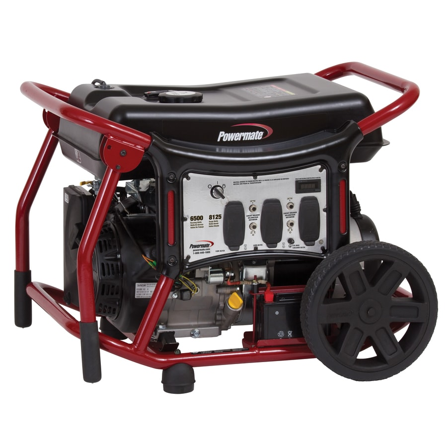 Powermate 6,500-Running Watt Portable Generator with Powermate Engine