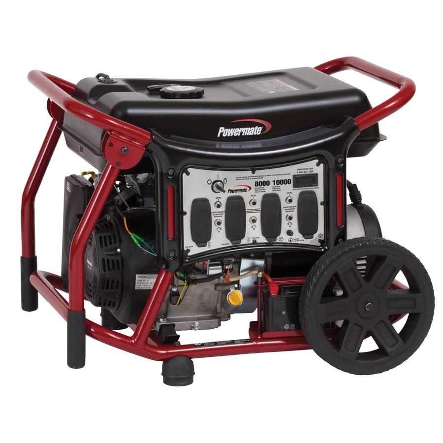 Powermate 8,000-Running Watt Portable Generator with Powermate Engine