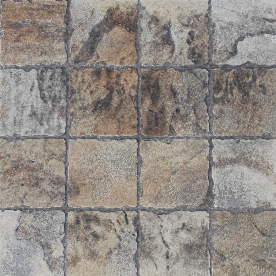 FLOORS 2000 12-Pack Old World Mix Glazed Porcelain Indoor/Outdoor Floor Tile (Common: 13-in x 13-in; Actual: 13.44-in x 13.44-in)
