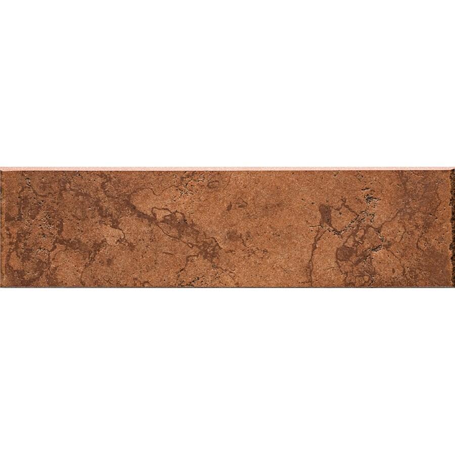Del Conca Rialto Terra Thru Body Porcelain Bullnose Tile (Common: 3-in x 12-in; Actual: 3.15-in x 11.81-in)