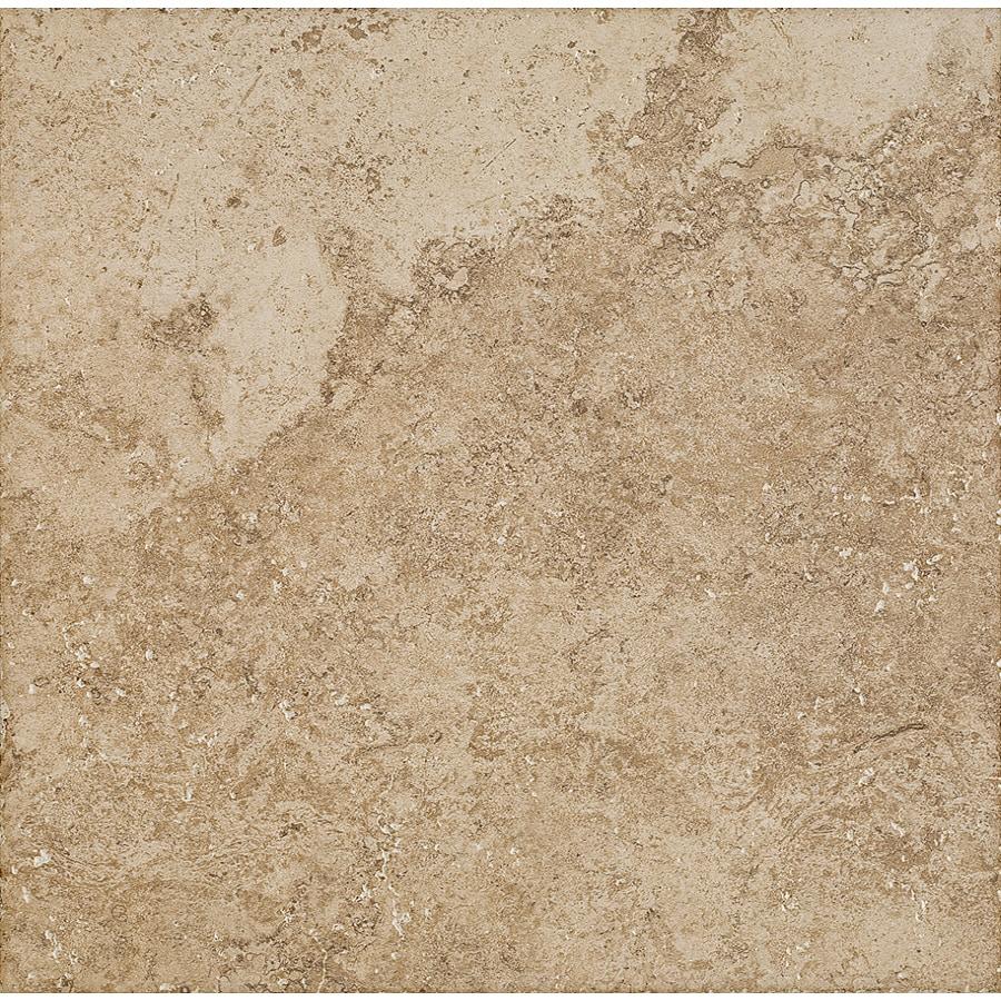 Del Conca Roman Stone Noce Thru Body Porcelain Indoor/Outdoor Floor Tile (Common: 18-in x 18-in; Actual: 17.72-in x 17.72-in)