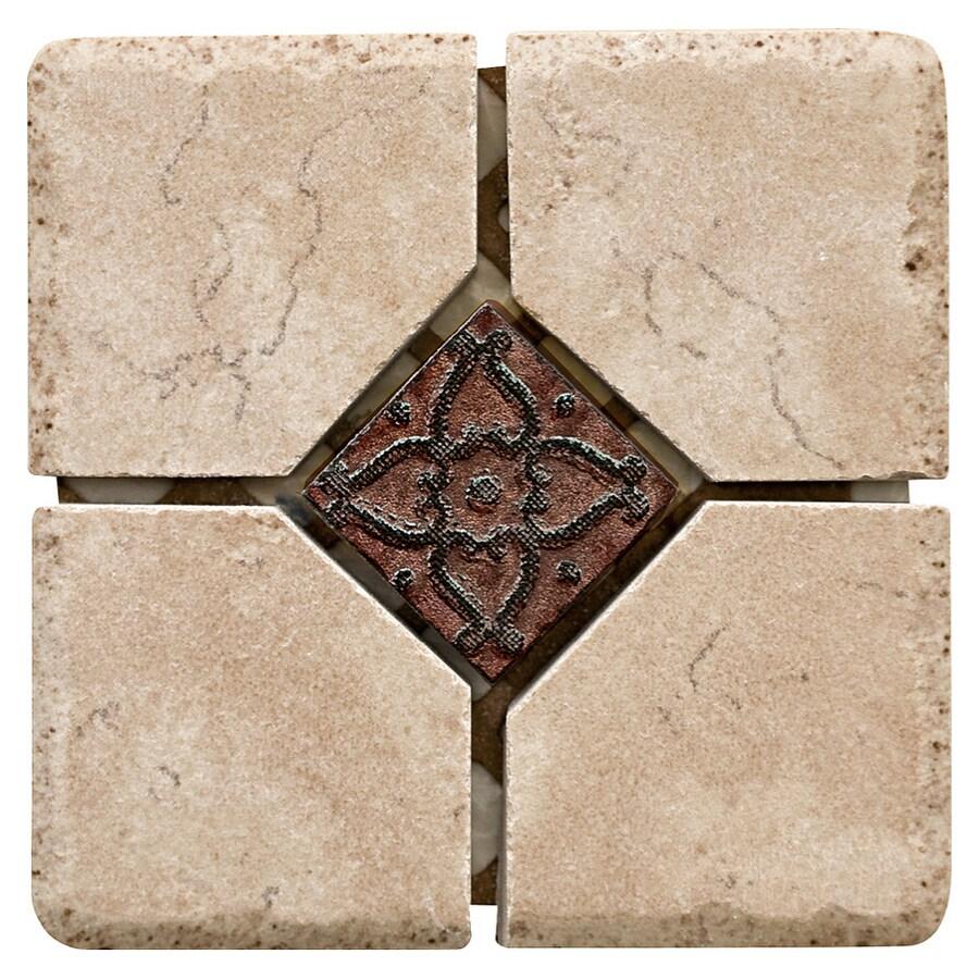 Del Conca 4-in x 4-in Rialto Beige Thru Body Porcelain Square Accent Tile