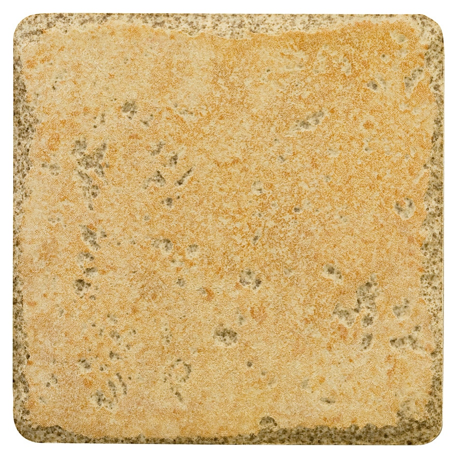 Del Conca 4-in x 4-in Agora Gold Thru-Body Porcelain Wall Tile (Actuals 4-in x 4-in)