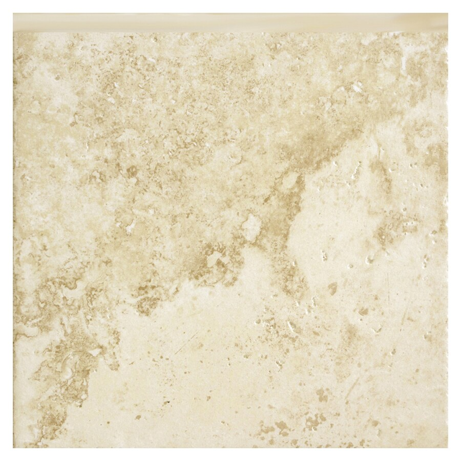 Del Conca Roman Stone Beige Thru Body Porcelain Indoor Outdoor Bullnose Trim (Common: 6-in x 6-in; Actual: 5.91-in x 5.91-in)
