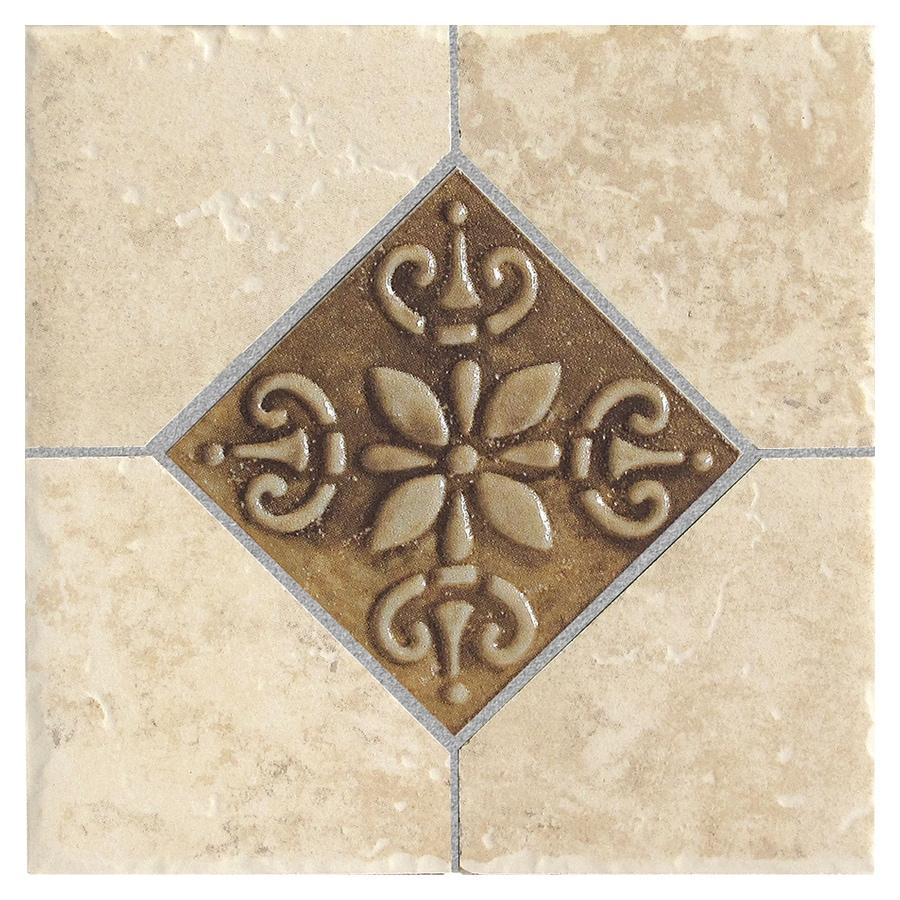 Del Conca Roman Stone Beige Thru Body Porcelain Square Accent Tile (Common: 6-in x 6-in; Actual: 5.91-in x 5.91-in)