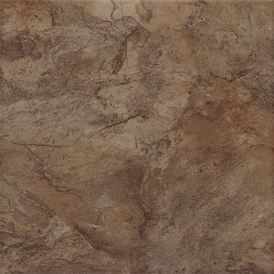 Shop style selections canyon espresso porcelain floor and wall tile common 13 in x 13 in - Lowes floor tiles porcelain ...