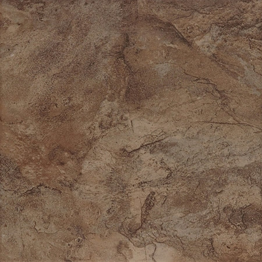 Style Selections Canyon 7-Pack Espresso Porcelain Floor and Wall Tile (Common: 18-in x 18-in; Actual: 17.72-in x 17.72-in)