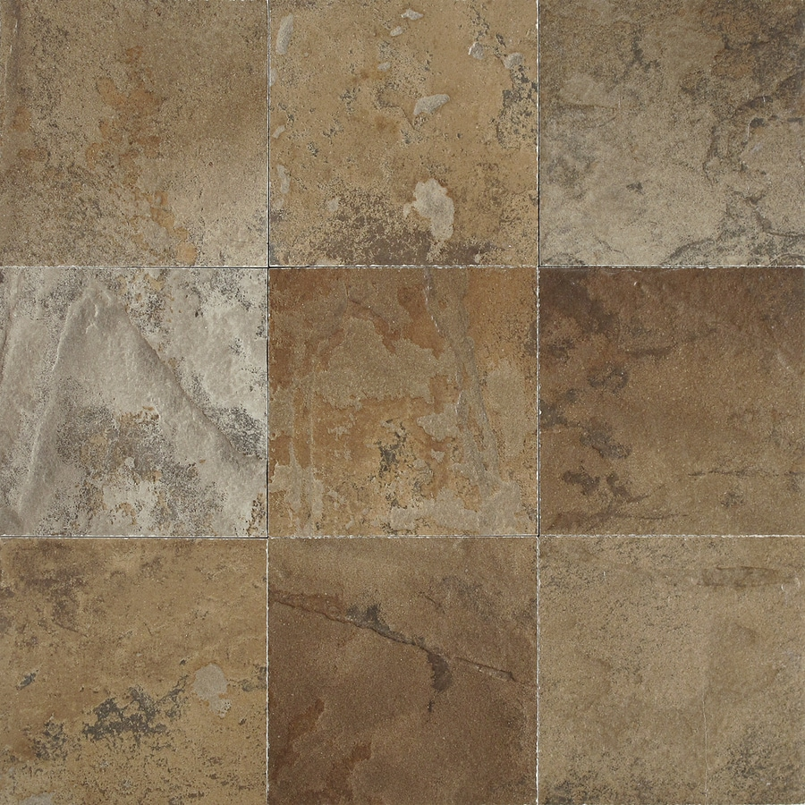 Shop del conca 4 in x 4 in porcelain slate brown glazed porcelain wall tile at - Lowes floor tiles porcelain ...