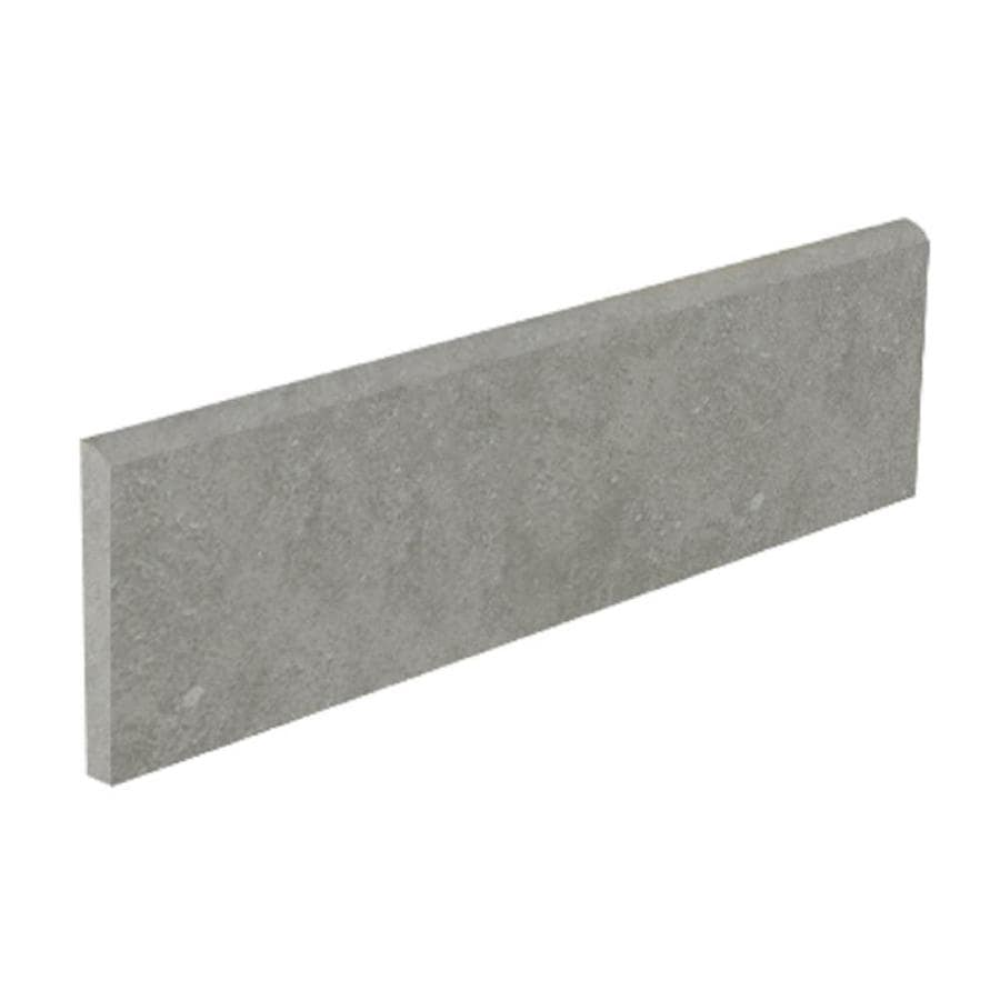 Style Selections Mitte Gray Porcelain Bullnose Tile (Common: 3-in x 12-in; Actual: 3.15-in x 11.81-in)