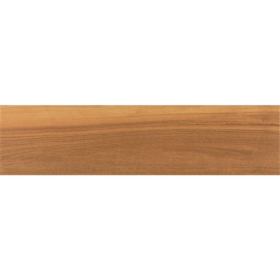 Style Selections Nott Gunstock Wood Look Porcelain Floor and Wall Tile (Common: 6-in x 24-in; Actual: 5.91-in x 23.62-in)