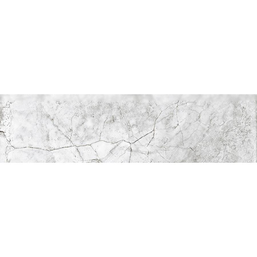 Del Conca VERDIANA Bone Thru Body Porcelain Bullnose Tile (Common: 3-in x 12-in; Actual: 2.76-in x 11.81-in)