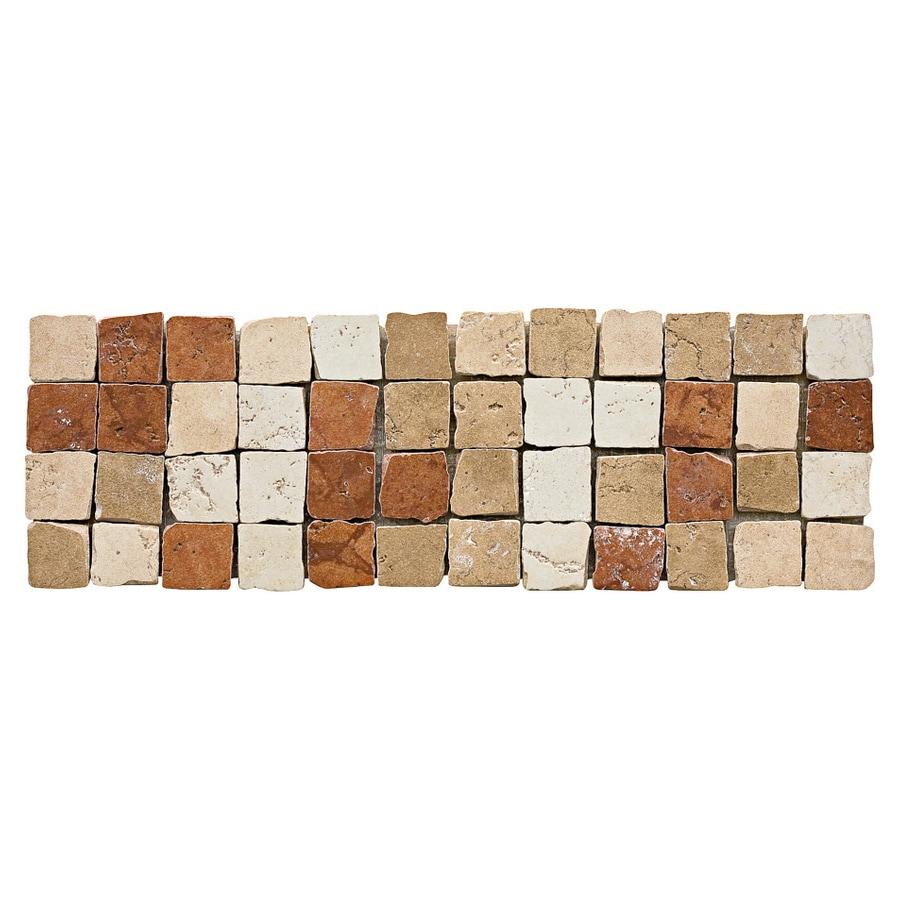 Del Conca 4-in x 12-in Rialto Beige Thru Body Porcelain Listello Tile