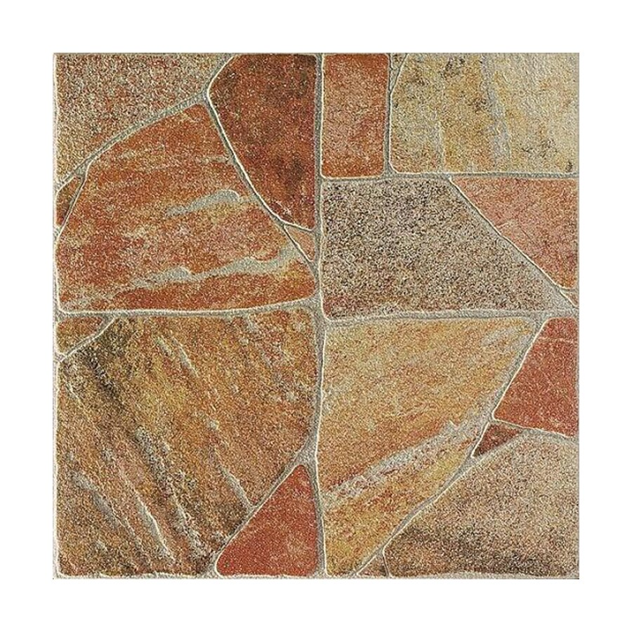 FLOORS 2000 Paladiana 11-Pack Red Porcelain Floor Tile (Common: 13-in x 13-in; Actual: 13.38-in x 13.38-in)