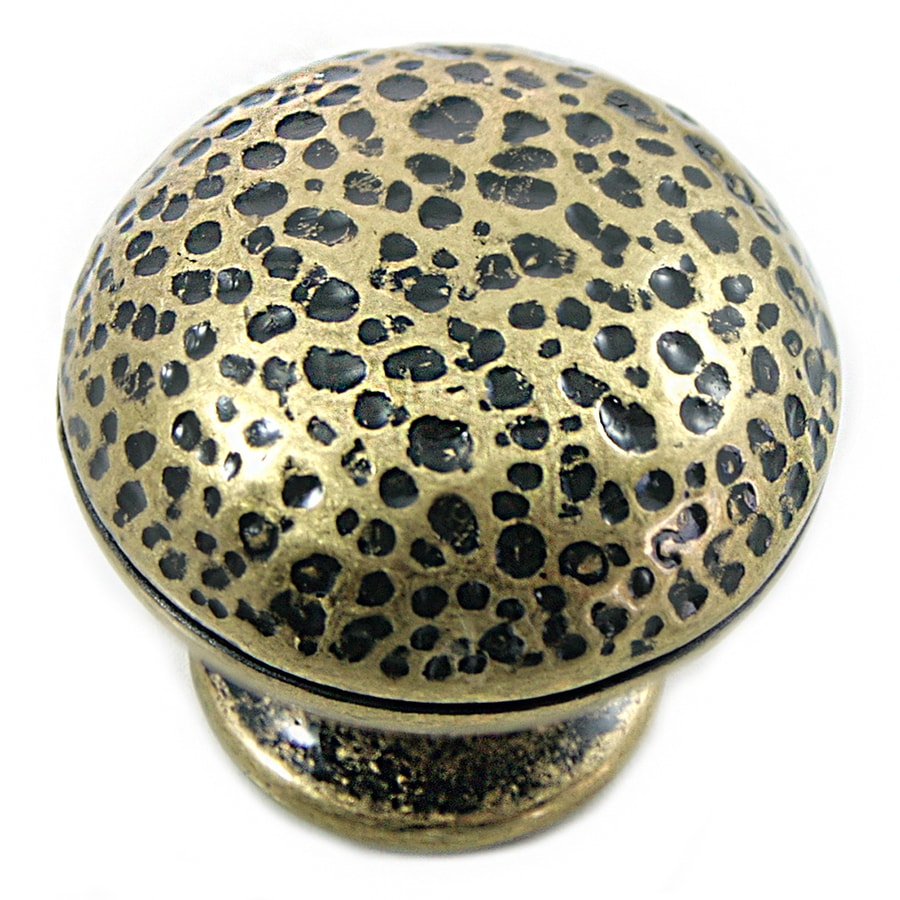 Laurey Antique Brass Round Cabinet Knob