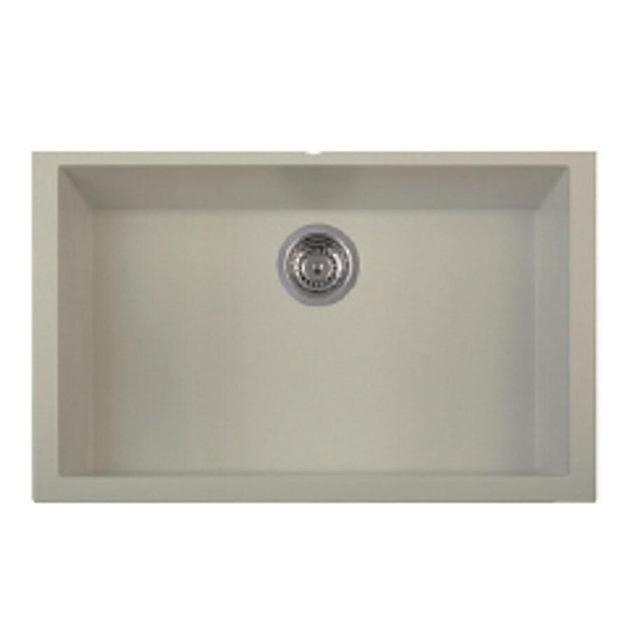 LaToscana One 30-in x 18-in Sahara Single-Basin Granite Undermount Residential Kitchen Sink All-In-One Kit