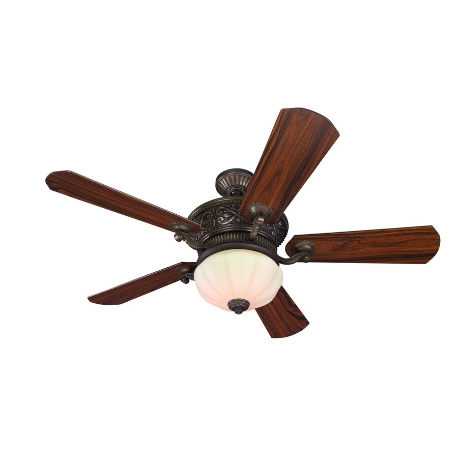 Harbor Breeze 52-in Wakefield Specialty Bronze Ceiling Fan with Light Kit
