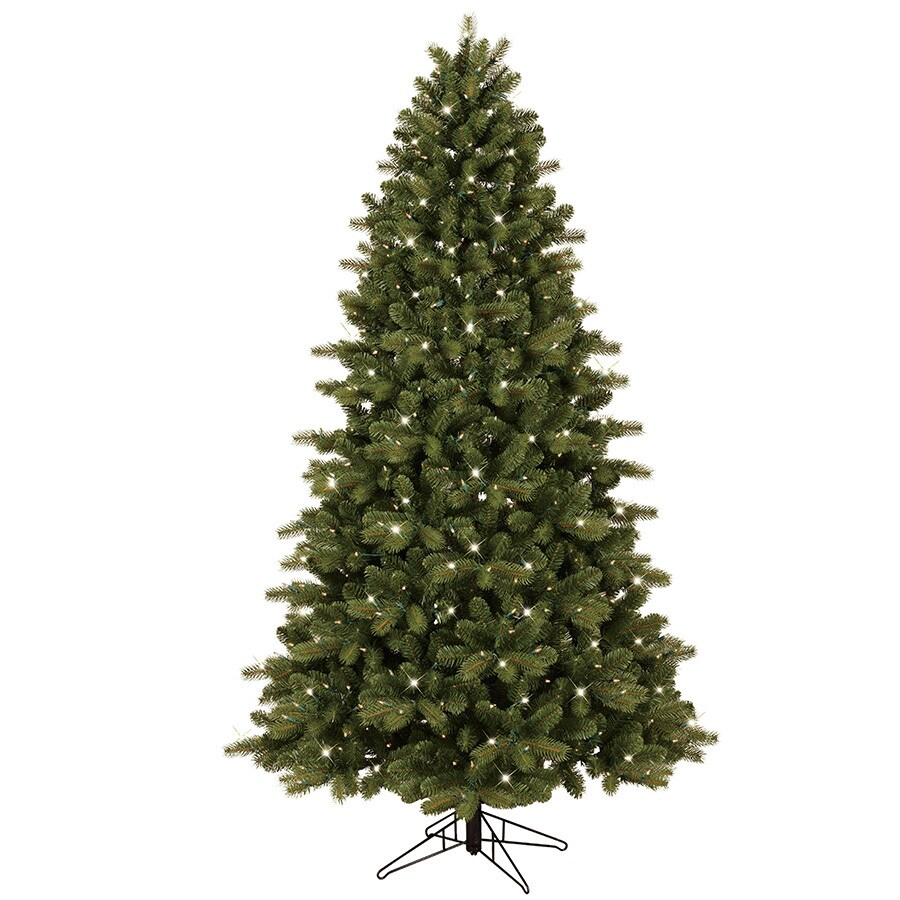 GE 7-ft Pre-Lit Colorado Spruce Artificial Christmas Tree with White Clear Incandescent Lights