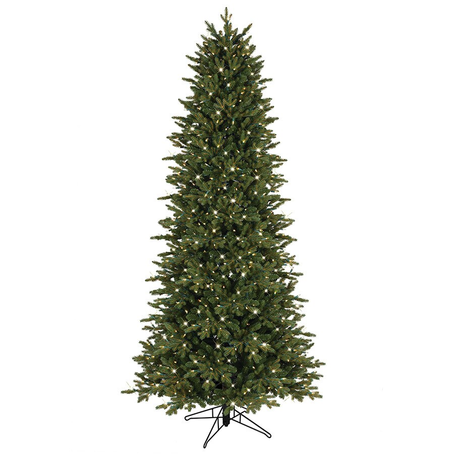 GE 7.5-ft Pre-Lit Aspen Fir Slim Artificial Christmas Tree with White Clear Incandescent Lights